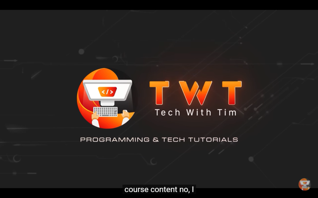 techwithtim - Tutorial